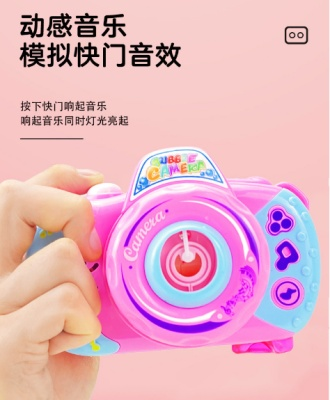 Direct sale of children's toy bubble camera bubble blowing sound electric music light bubble machine camera bubble water