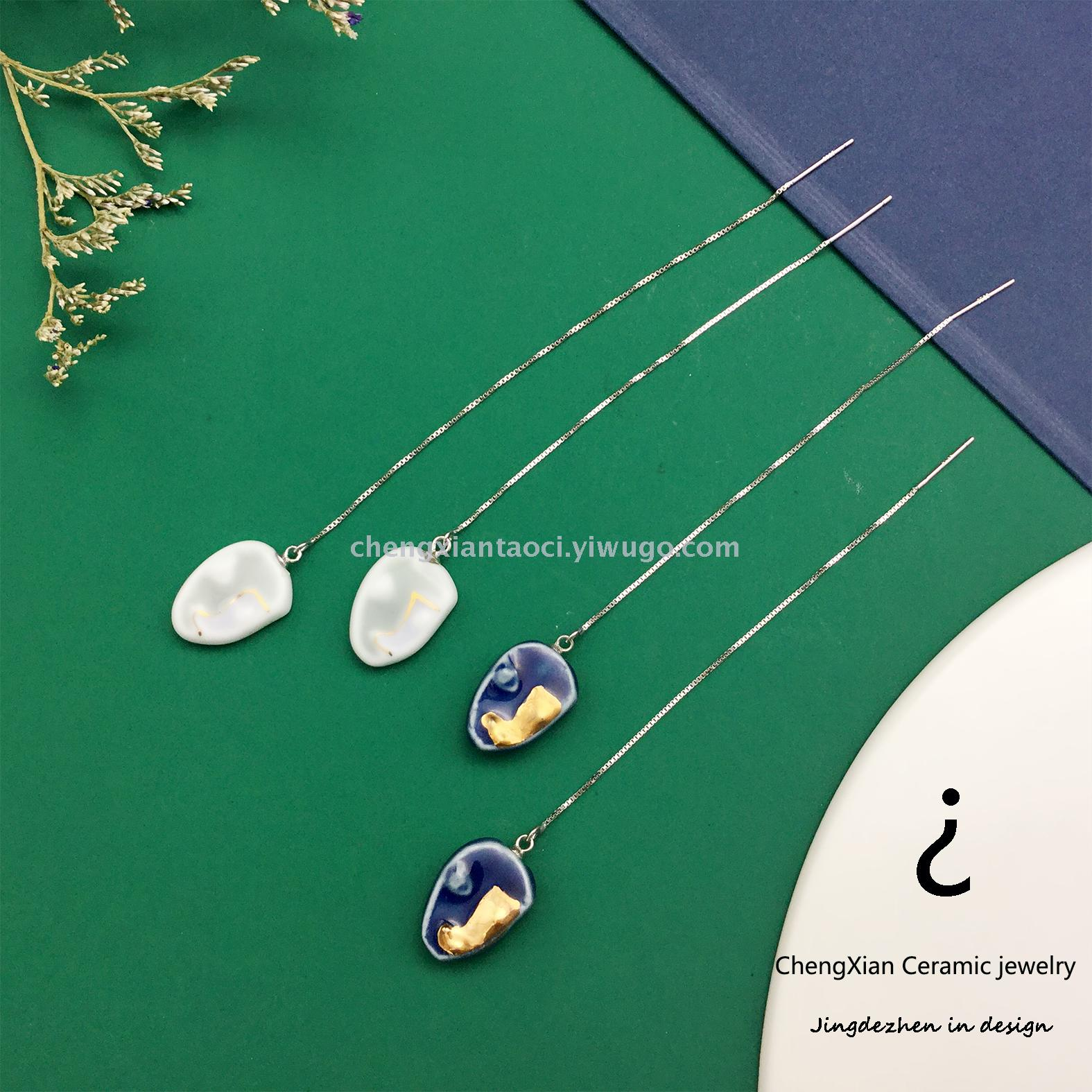 Supply Present Jewelry Original Brand 925 Pure Silver Pure Handmade Necklace Earrings Are Still Manufacturers Direct
