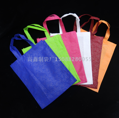 Spot Rose-Patterned hand clothes bags non-woven shopping bags store bags gift bags custom LOGO