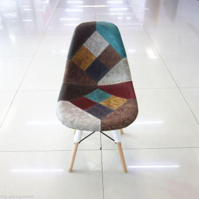Nordic dining chair eames chair simple coffee chair fashionable leisure chair package cloth chair  office chair