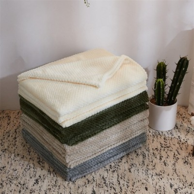 No printed Japanese mesh coral blanket winter flannel blanket pure cotton terry towelling air conditioning blanket beibei