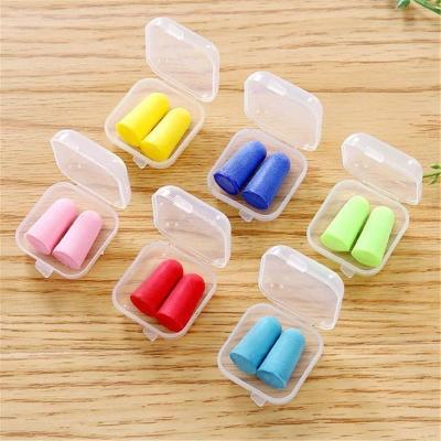Anti-noise, soundproof and noise-visiting earplugs bullet-type silicone working earplugs for men and women with wire