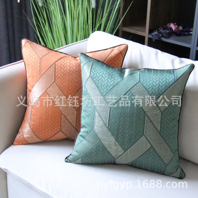 Nordic pillow ins light luxury wind sand hair pillow American luxury modern sitting room high-end back pillow square custom