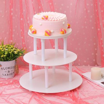 Cake Stand Three-Layer Cake Stand Cake Decoration Stand Cake Plate Happy Birthday Baking Tools