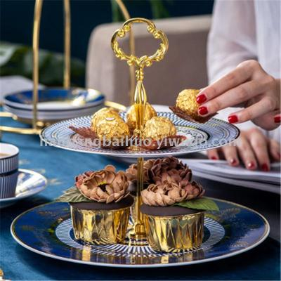 Hotel banquet home western food tray cake inventory heart plate cake shop three layer cake rack manufacturers wholesale