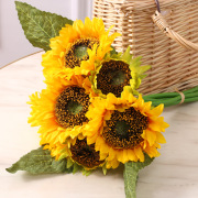 Ins wind simulation flowers DIY bunch of large sunflowers wedding home decoration landing flowers 7 bunches of sunflowers