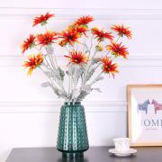 Manufacturers wholesale site layout props simulation sunflower flocking living room decoration wedding fake sun chrysanthemum