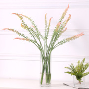 New no leaf single 2-fork plastic simulation plant horsetail grass indoor decoration wedding fake flowers Green plants