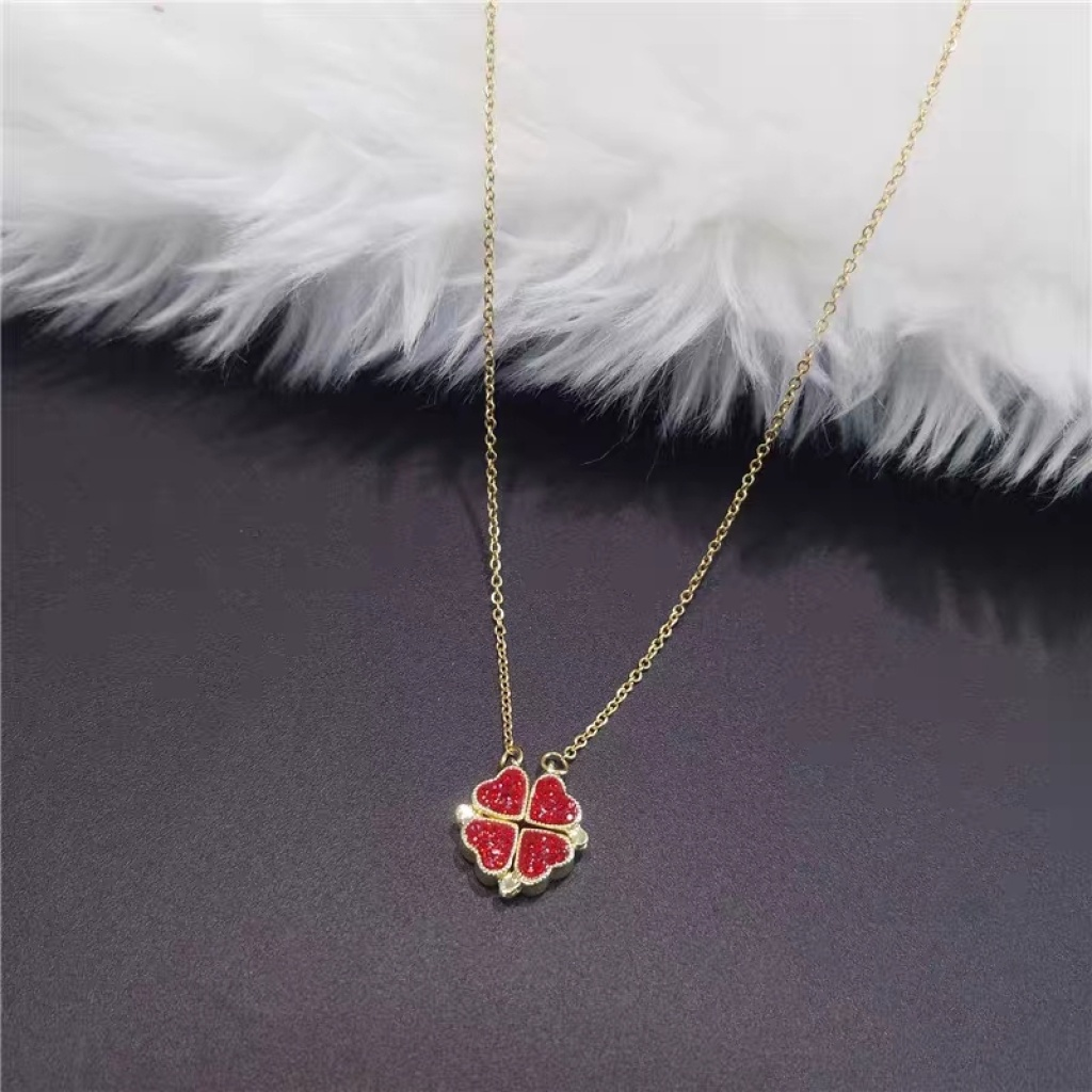 Details about  /THE CALLISTA COMPANY CHOICE OF 4-COLORS PLATED REAL LEAF NECKLACE FOR WOMEN