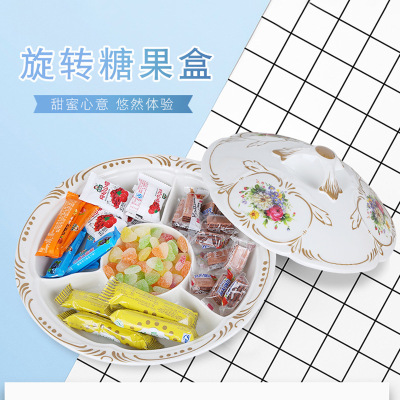 Manufacturer direct selling small fruit tray imitation porcelain candy tray dry fruit tray creative European living room fruit tray