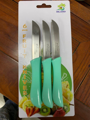 6PC/Card Fruit knife can do the Customer LOGO 6PC Mixed color for export to Iran