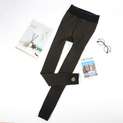 "True through skin ""women 's warm socks height pants big yards carry buttock false through bare flesh elasticity"