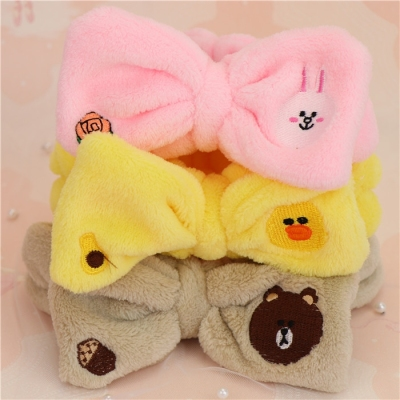 Super Cute Three-dimensional Rabbit ear hair belt Face makeup Mask hair band head band band