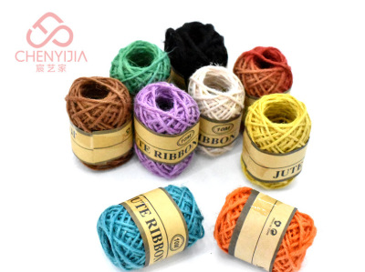 Manufacturers direct 2mm*10m color twin-strand DIY hand-made twin-strand hemp rope
