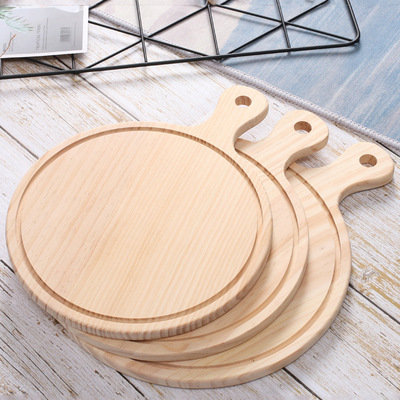 Restaurant and Cafe round Pizza Tray Wooden Kitchen Supplies 6 8 9-Inch Wooden Pizza Bread Board
