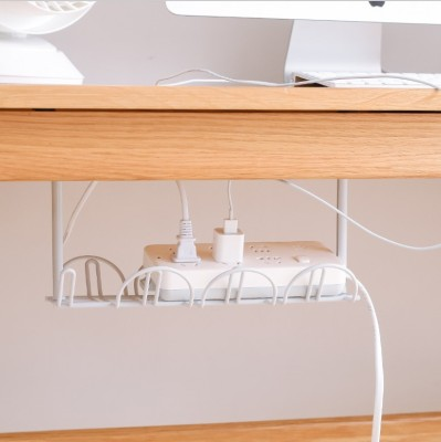under-Table Line Storage Rack Patch Board Storage Box Kitchen Storage Rack Paste Cord Manager Rack