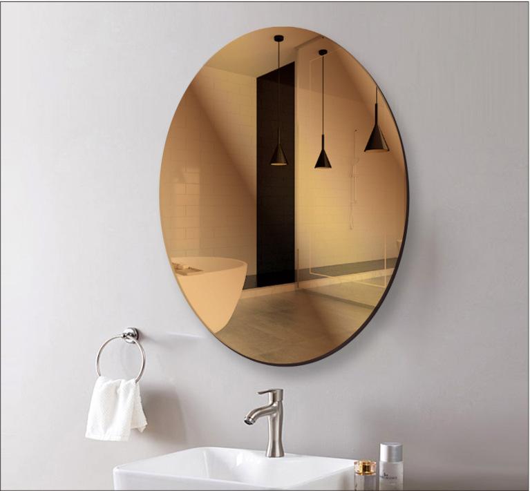 Supply 30 40cm Hd Mirror Stickers Mirror Sticker Bathroom Decorative Sticker Geometric Stickers Wall Sticker Bathroom Living Room Entrance
